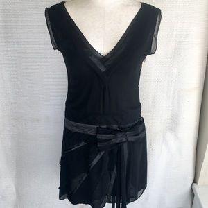 Witchy Lolita Bow Drop Waist Short Dress